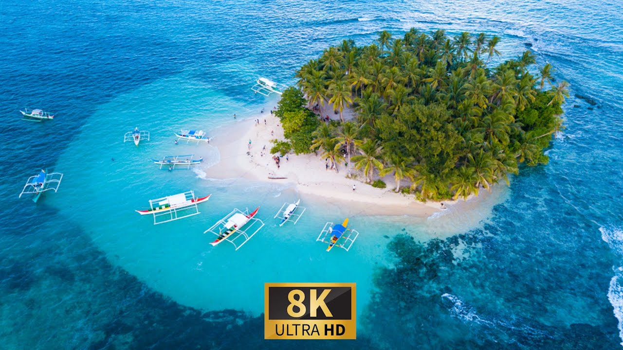 Philippines Nature in 8K ULTRA HD HDR - Relaxation Film with Soothing Piano Music.