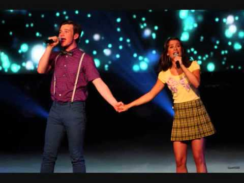 defying gravity glee 39 s chris colfer and lea michele. Black Bedroom Furniture Sets. Home Design Ideas