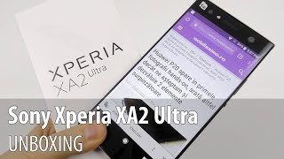 Sony Xperia XA2 Ultra Unboxing (6 Inch Phablet With Dual Selfie Camera)