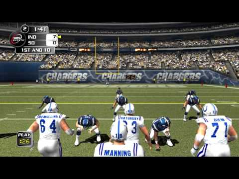 NFL Gameday 2004 PS2 PCSX2 gameplay Colts vs Chargers 60fps