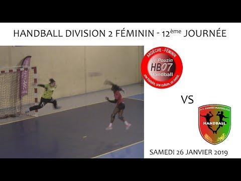 2019 01 26 Handball   Championnat D2F 12ème journée   LE POUZIN vs AS CANNES MANDELIEU