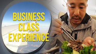 Flying Asiana Airlines BUSINESS CLASS, LAX to Seoul Incheon Korea (Star Alliance Lounge Review)