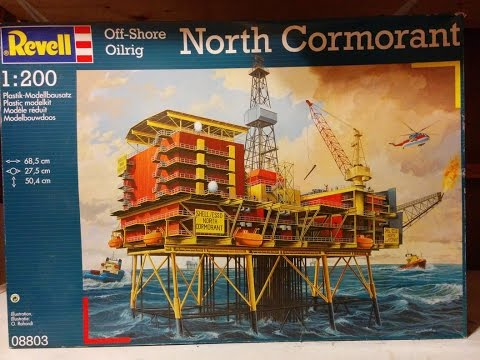 North Cormorant Oil Platform Kit Review, Revell 1/200