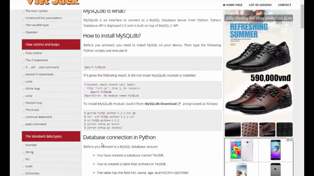 Python Conect database MySQL and Create form login