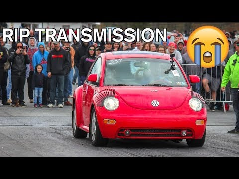 I TOOK MY CHEAP VW BEETLE TO A DRAG STRIP AND IT BROKE