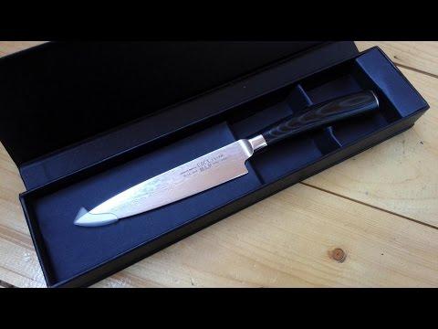 Cмотреть видео AliExpress универсальный кухонный нож Legend Knife F03-1