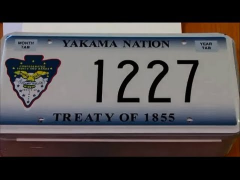 Yakama Nation License Plates