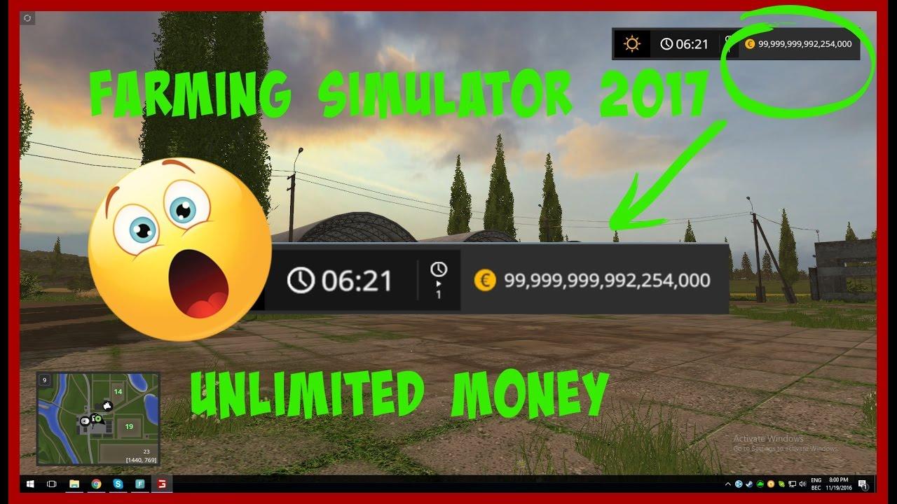 Farming Simulator 2017 Money Cheat Pc Youtube