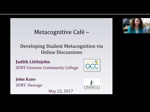 Improving student metacognition using an online discussion forum