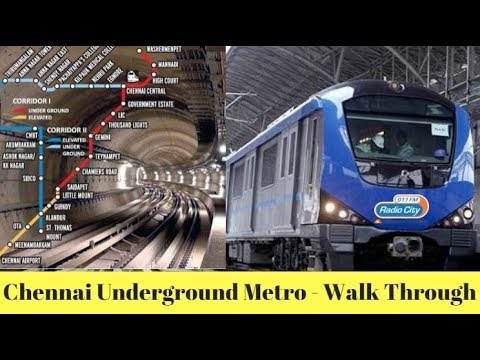 Exploring Chennai Underground Metro - RJ Bharath's Walk Through !!!