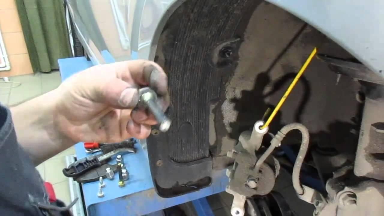 Замена тормозных колодок хендай солярис - YouTube