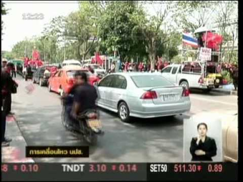 12MAR10 THAILAND ; Breaking News at Noon ;TV Thai; The Red Shirts's Great Demonstration