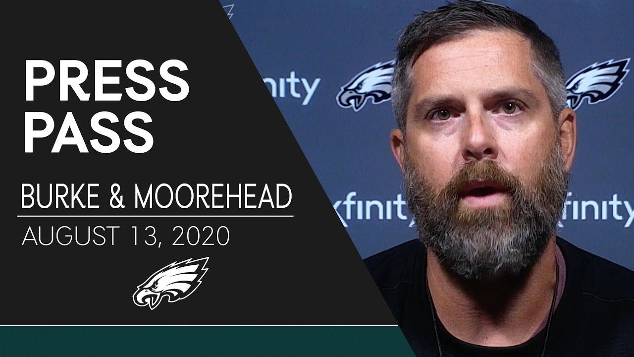 Matt Burke & Aaron Moorehead Discuss 2020 Training Camp | Eagles Press Pass