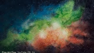 How to Paint a Galaxy With Watercolor - a Nebula - Universe