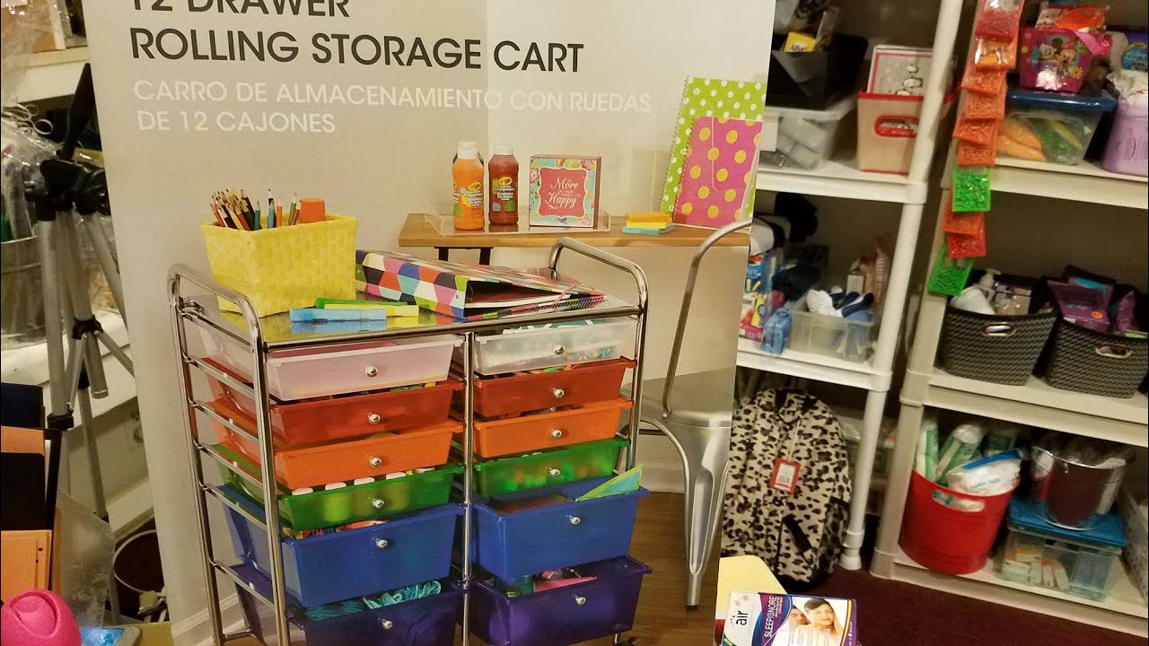 I Finally Found This 12 Drawer Rolling Storage Cart At Aldiu0027s
