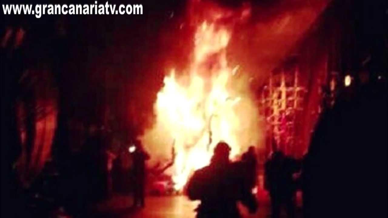 Imagen del tr gico incendio en la gala de la reina del - Gran canaria tv com ...