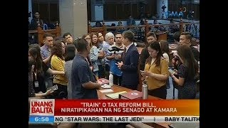 "UB: ""Train"" o tax reform bill, niratipikahan na ng Senado at Kamara"