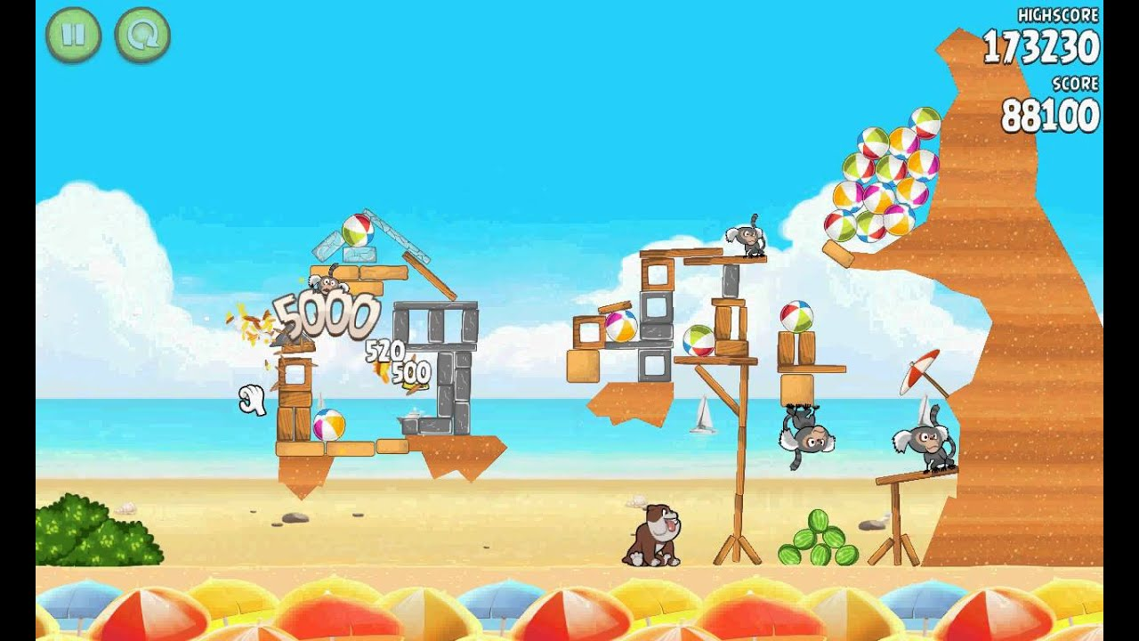 angry birds rio beach volley last level - YouTube