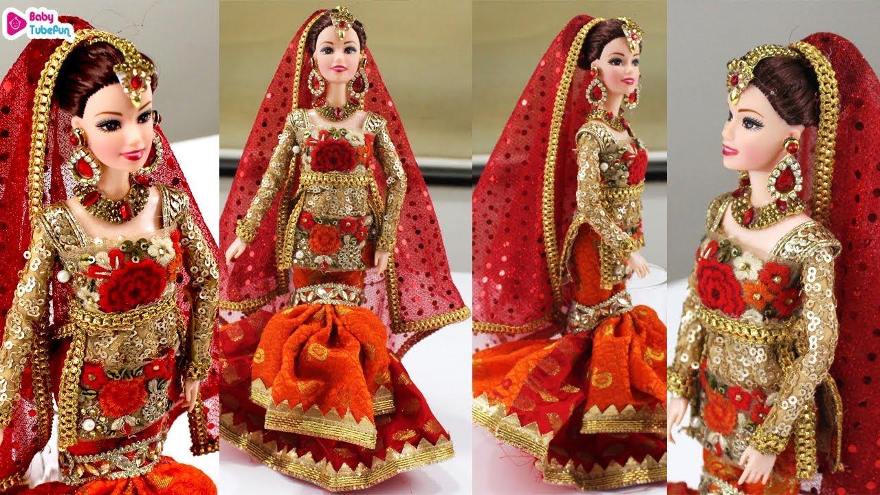 Barbie Doll Lehenga Mermaid style, indian bridal doll ...