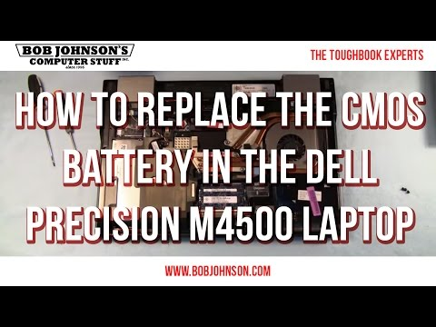 How To Replace The CMOS Battery In The Dell Precision M4500 Laptop