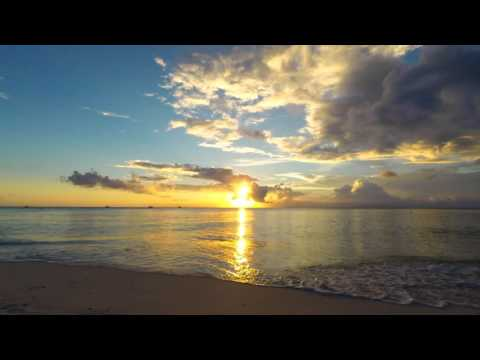 Grand Cayman Sunset HD - 15 Minutes of Calming Caribbean Waves Rolling onto Seven Mile Beach