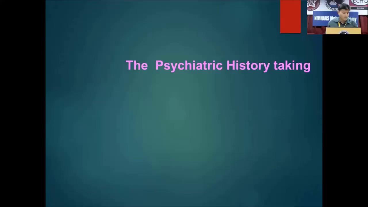 History Taking In Psychiatry Part 1 Youtube