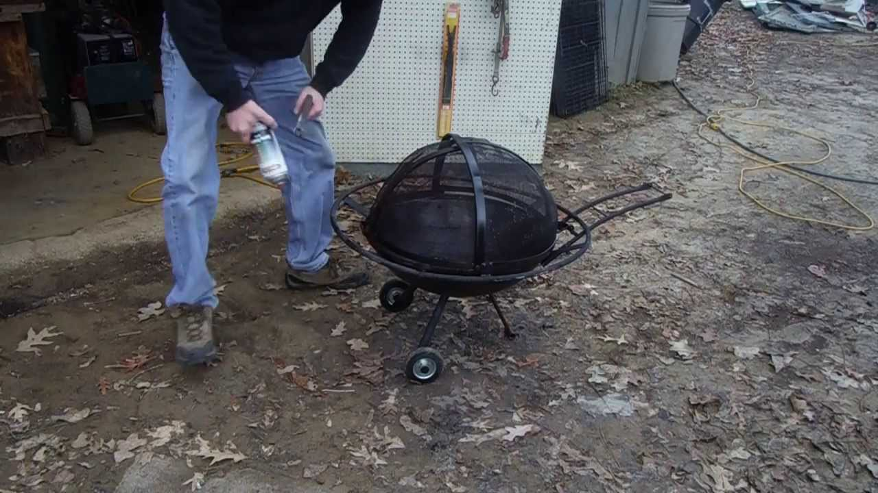 DIY Portable Outside Fire Pit Repair - YouTube