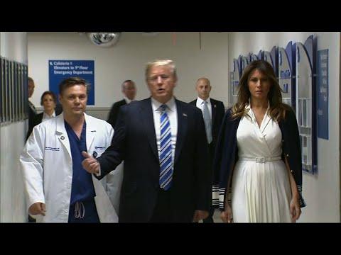 Trump Praises Medical Personnel at Fla. Hospital