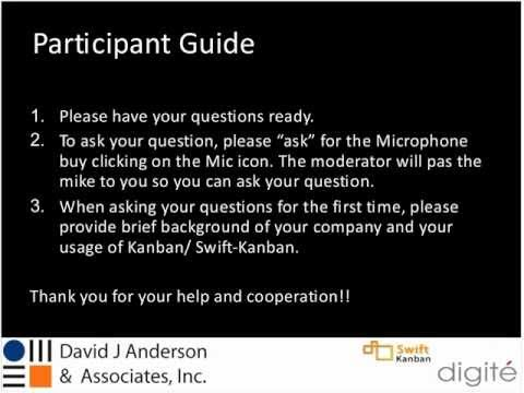 Swift-Kanban Customer Round-Table with David Anderson: Business Value of Kanban Metrics