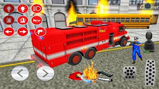 Emergency Fire Rescue Truck Driving Game 2021 - Real Firefighter Truck Sim - Android Gameplay screenshot 5
