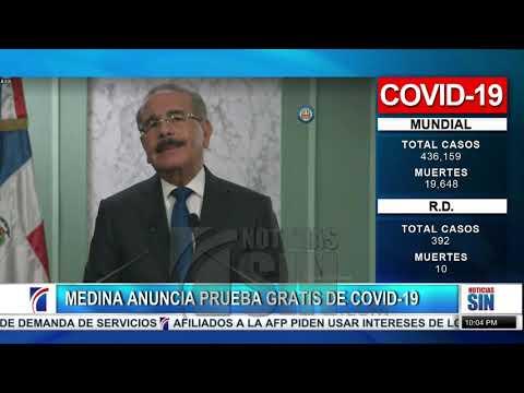 Presidente Medina anuncia aumento de 5 mil pesos a Tarjeta Solidaridad