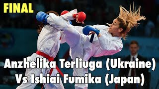 FINAL - Anzhelika Terliuga (UKR) Vs Ishiai Fumika (JPN) Kumite -55 Kg Female WKF Series A Shanghai