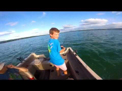 Fishing At Platte Lake Michigan