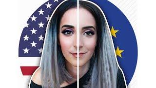 MACHIAJ USA VS EUROPA