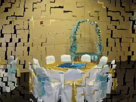 Decoracion de salon color dorado y azul turquesa por faos - Decoracion de salones pequenos alargados ...