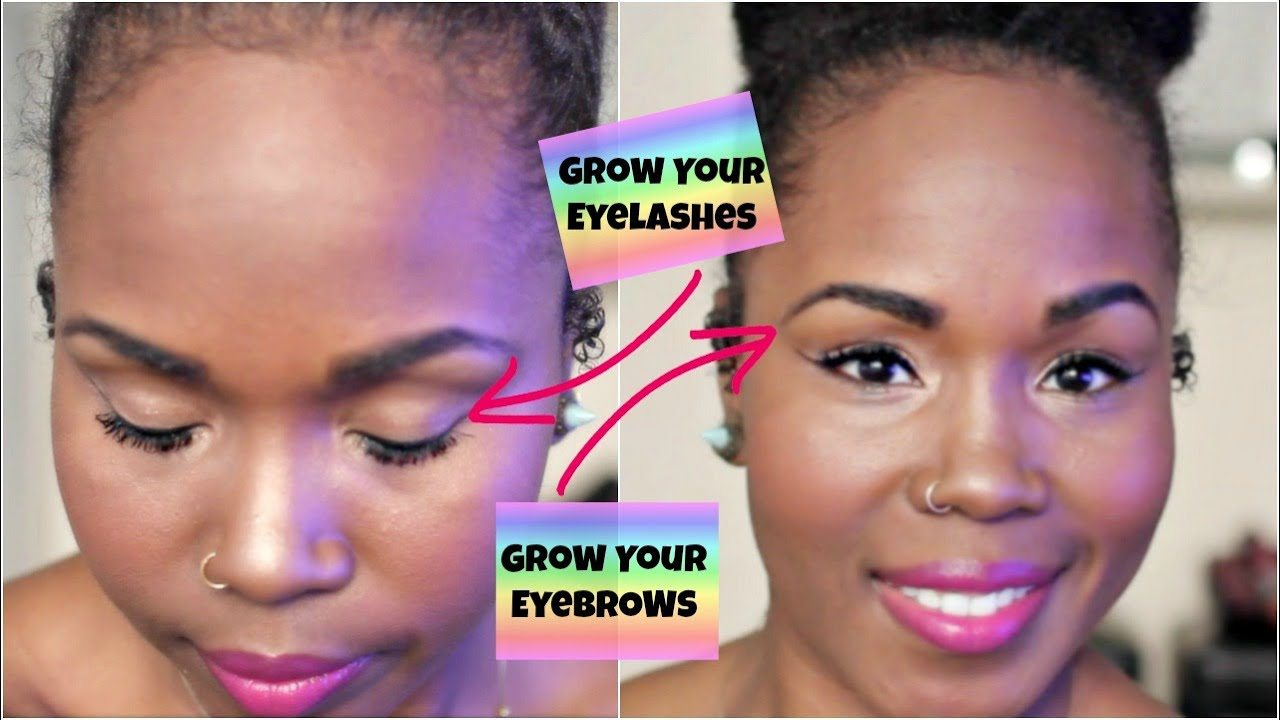 How to Grow Your Eyelashes and Eyebrows Naturally FAST || Products ...