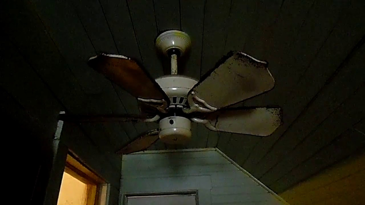 Broken sabtoge ceiling fan - YouTube