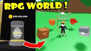 MY FIRST TIMES PLAYING RPG WORLD SIMULATOR & UNOBTAINABLE PETS | Roblox