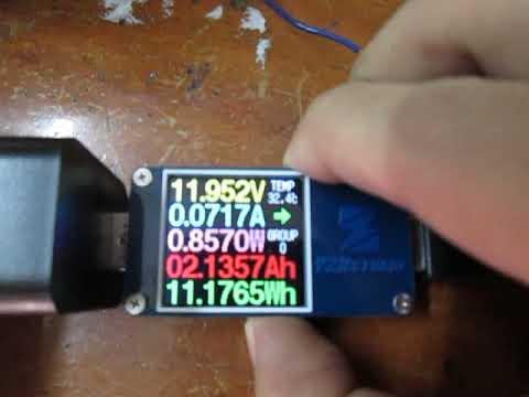 Panaflo FBP-08B12L fan current measurement with ZY1276 meter