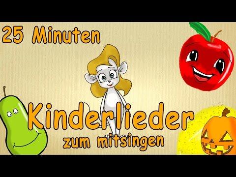 Kinderlieder zum mitsingen mit text deutsch - 25 Minuten Lern-Lieder!