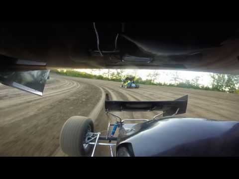 Bailey Elliott in car cam at Double X speedway