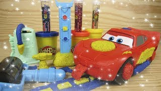 Lightning McQueen Play Doh Sparkle Cars Glitter Magic Play doh Sparkly How to make Play doh Sparkle