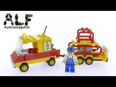 Lego Classic Town 6671 Utility Repair Lift - Lego Speed Build Review