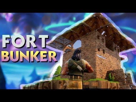HUGE UNDERGROUND BUNKER! (Fortnite Battle Royale)