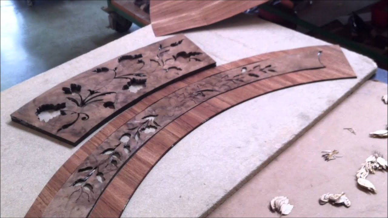 Hand Cutting And Crafting Italian Inlaid Wood Table Top   YouTube