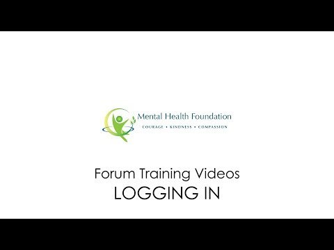 Mental Health Foundation Forum - Logging In