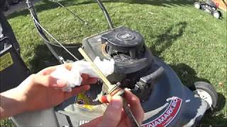 Lawn Mower Seizes with Peanut Oil in Crankcase?