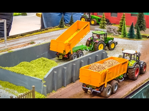 R/C tractors in 1/32 scale at farming work! John Deere! Deutz! & more!