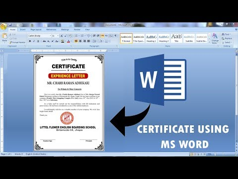 Experience Certificate Design In Ms Word    Word Me Experience Certificate Kaise Banaye