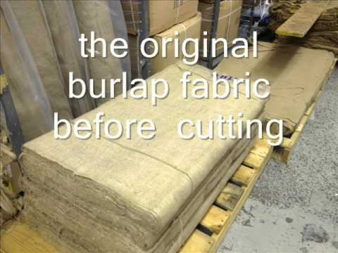 burlap fabric processing